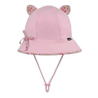 Bedhead Paisley Trimmed Baby Bucket Hat With Strap - Blush - 50cm / 1-2 Years / M