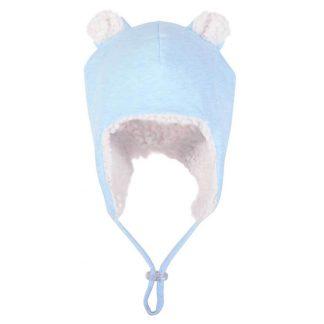 Bedhead Teddy Fleecy Beanie - Baby Blue Marle - 50cm / 1-2 Years / M