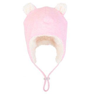 Bedhead Teddy Fleecy Beanie - Baby Pink Marle - 52cm / 2-3 Years / L