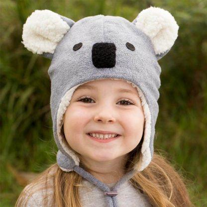 Bedhead Koala Fleecy Beanie - Grey Marle - 54cm / 3-6 Years / L