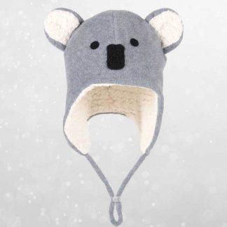 Bedhead Koala Fleecy Beanie - Grey Marle - 56cm / 6 Years & Up / XL