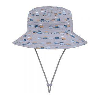 Bedhead Boys Bucket Hat 'Trains' Print - 52cm / 2-3 Years / L