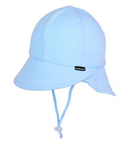 Bedhead Legionnaire Hat With Strap - Baby Blue - 47cm / 6-12 Months / S