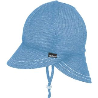 Bedhead Legionnaire Hat With Strap - Chambray - 52cm / 2-3 Years / L
