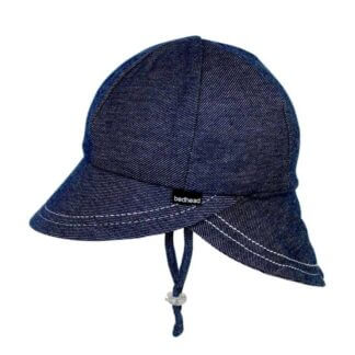 Bedhead Legionnaire Hat With Strap - Denim - 50cm / 1-2 Years / M