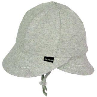 Bedhead Legionnaire Hat With Strap - Grey Marle - 50cm / 1-2 Years / M