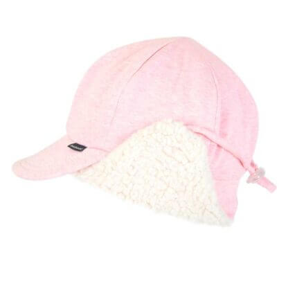 Bedhead Fleecy Legionnaire With Strap - Baby Pink Marle - 52cm / 2-3 Years / L