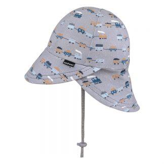 Bedhead Boys Legionnaire Hat 'Trains' Print - 47cm / 6-12 Months / S