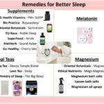 Sleep remedies and insomnia treatments