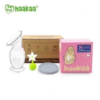 Haakaa New Mum Starter Pack - Gen 2 150ml Pump With White Stopper